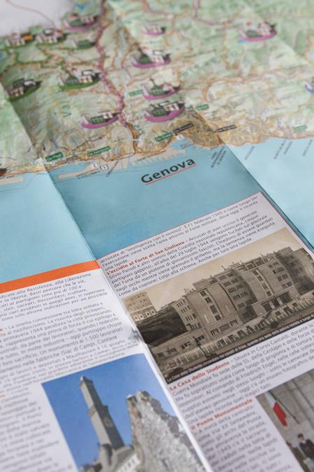 i percossi della libertà - Provincia di Genova - carta geografica