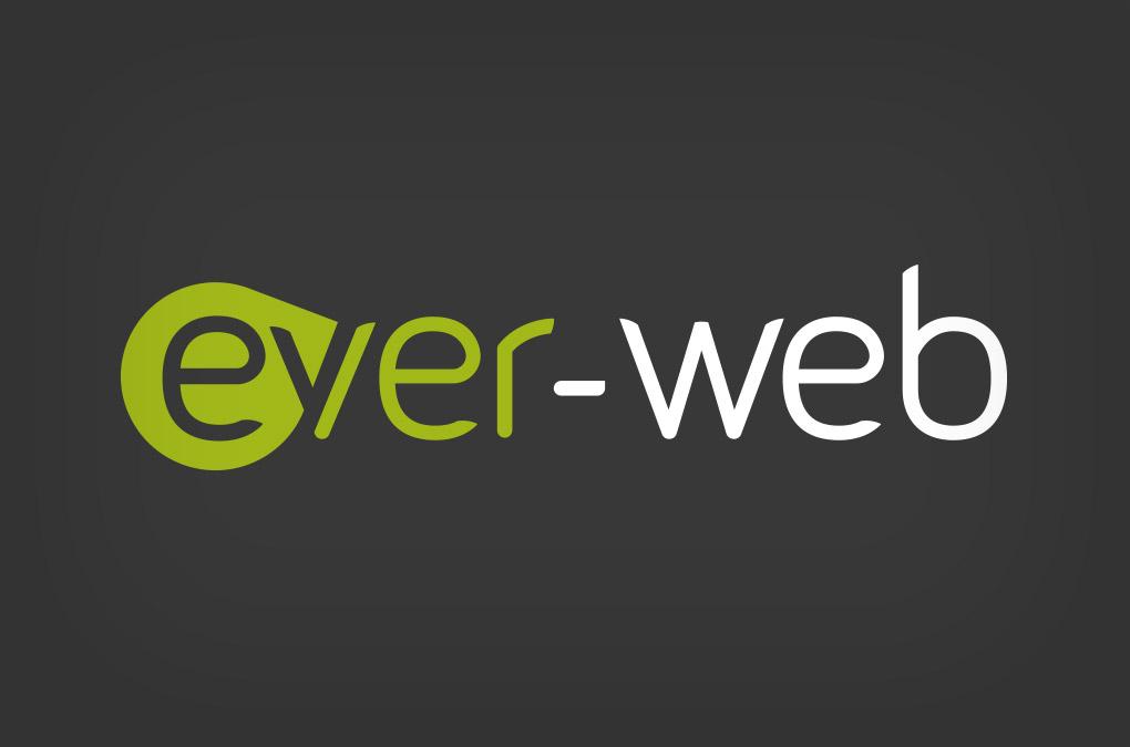logotipo Ever-web in negativo