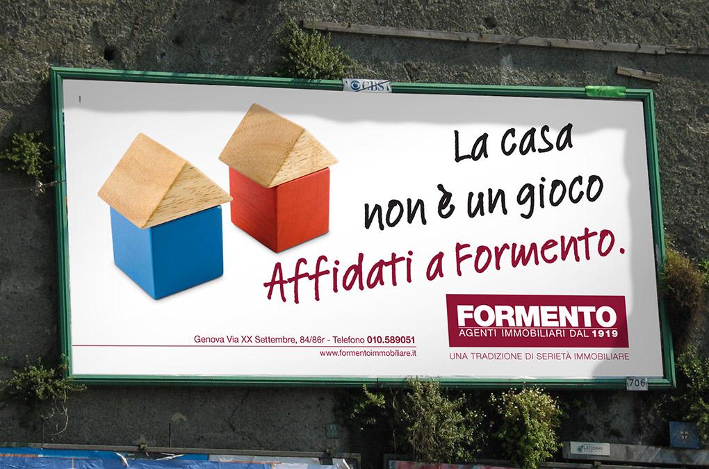 La casa non è un gioco. Affidati a Formento. Manifesto 6x3