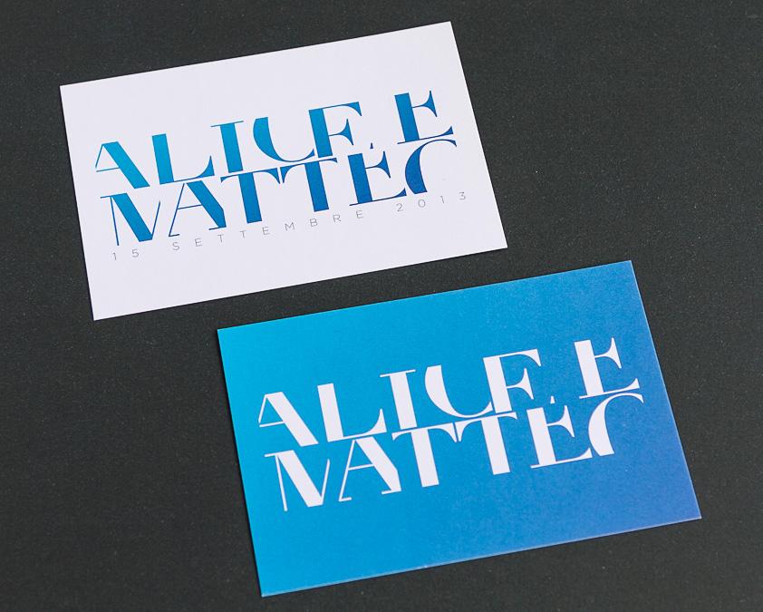 Alice e Matteo - partecipazioni nuziali