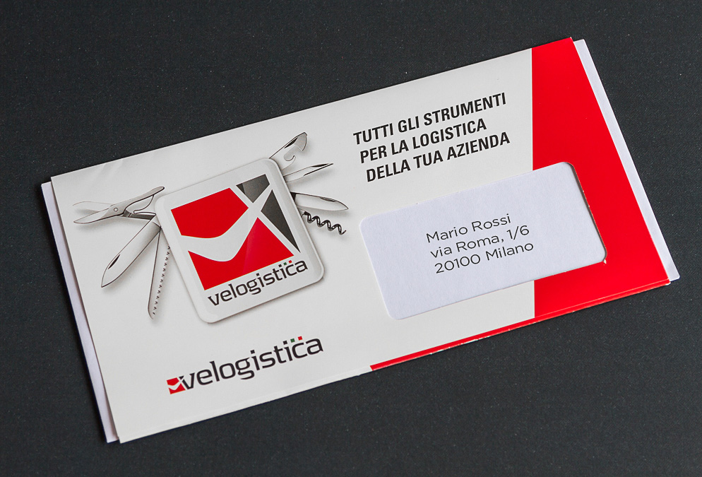Velogistica - servizi di logistica - pieghevole per corrispondenza