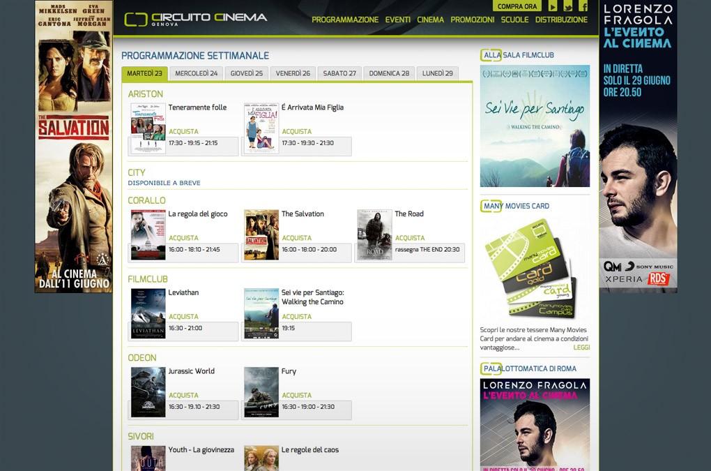 Circuito Cinema Genova - sito web