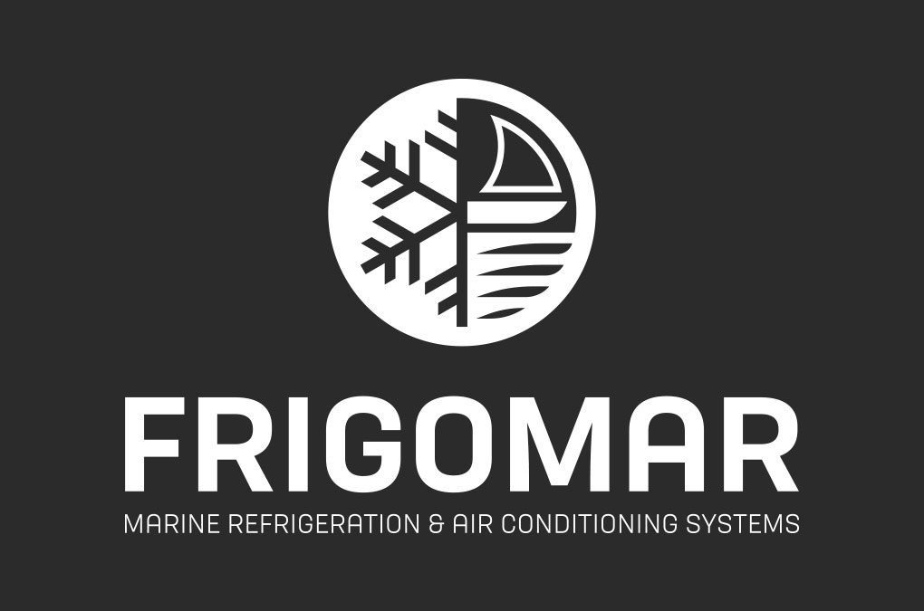 Nuovo logo FRIGOMAR in negativo